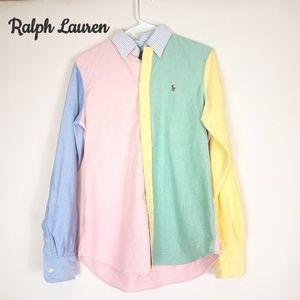 NWT Ralph Lauren oxford colorblock button down